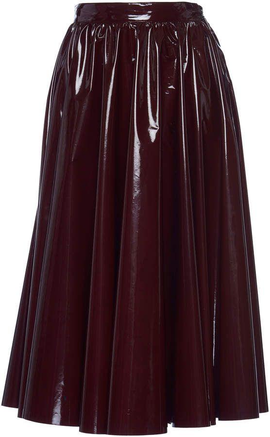 3695c4fba5 MSGM Patent Midi Skirt | Leather, Latex, and Pvc Fashions