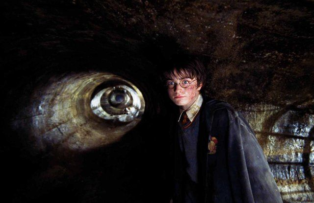 Harry Potter (Daniel Radcliffe) in Harry Potter and the Chamber of Secrets from the novel of the same name by J.K. Rowling.