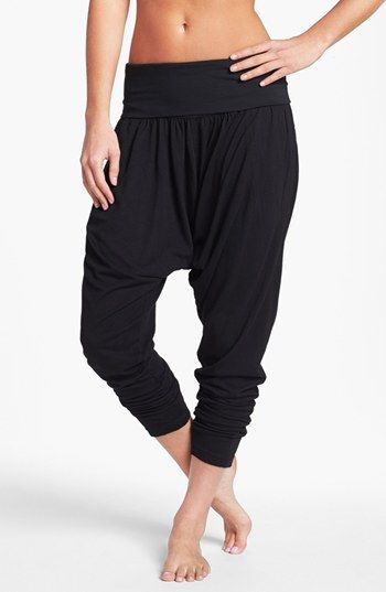 Even though the crotch is low, I kind of like these pants. They would so comfortable. | Hard Tail Roll Waist Harem Pants - Nordstrom