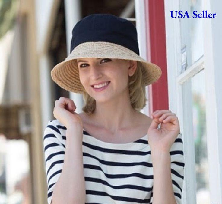 Cs-321 Ladies Casula Hat With Raffia Ladies Sun Hat Black Or Khaki Nwt
