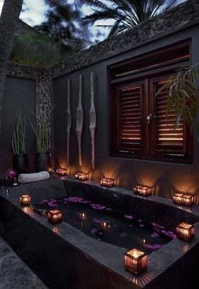 Outdoor Bath U2013 Reminds Me Of Our Beautiful Day Spa In Mexicou2026 😉 😉 Is  Creative Inspiration For Us. Get More Photo About Home Decor Related With  By Looking ...