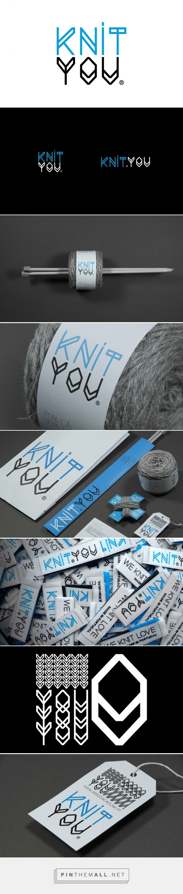KnitYou branding identity packaging on Behance by Uma Brand Studio curated by Packaging Diva PD. Who wants to learn how to knit now?