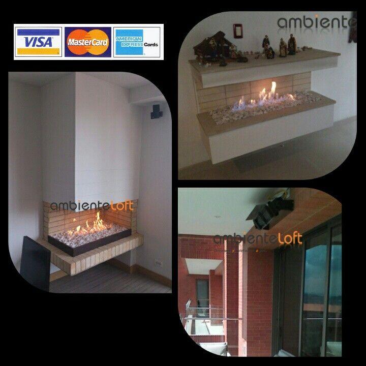 Suministro de chimeneas y Calefactores a Gas. Diseño-Construcción-Mantenimiento. www.ambienteloft.co.