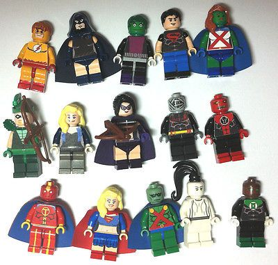 Lot of 15 Custom Lego Minifigures DC Marvel Super Heroes Martian Kid Flash Arrow | eBay