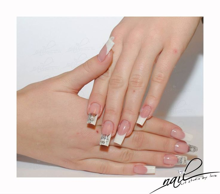 nails nail art french animal print sticker foil trend 2015 manicure