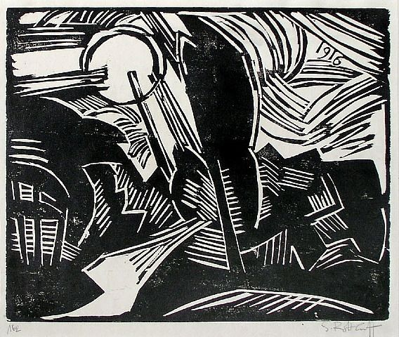 Karl Schmidt-Rottluff, woodcut (as a kid I fell in love with the German Expressionists who were so brilliantly displayed at the New Walk gallery in Leicester)