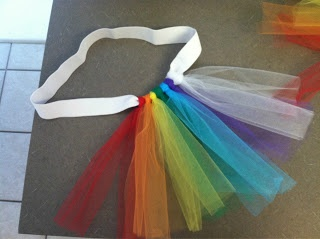 Tutorial for making your own rainbow tutu