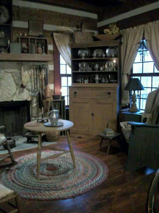 Colonial Keeping Room Via Karla Grove Keeping Rooms