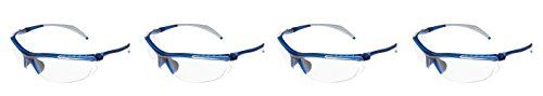 Encon nQzGts Wraparound Veratti 307 Safety Glasses, Clear Lens, Translucent Blue Frame, 4 Pack
