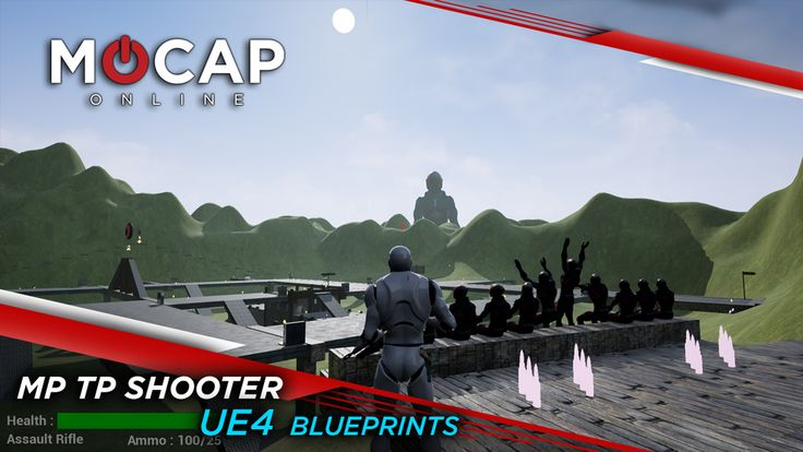 BIG ANNOUNCEMENT TODAY!    MoCap Online is releasing complete UE4 Blueprints for a Multiplayer Third Person Shooter!