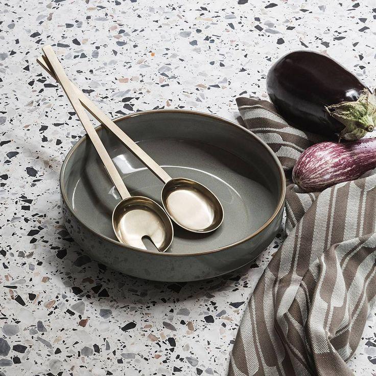 Shop our danish design kitchen accessories online - ferm LIVING Neu bowl, Fein salad servers and Arch tea towel. View more: http://www.fermliving.com/webshop/shop/kitchen.aspx