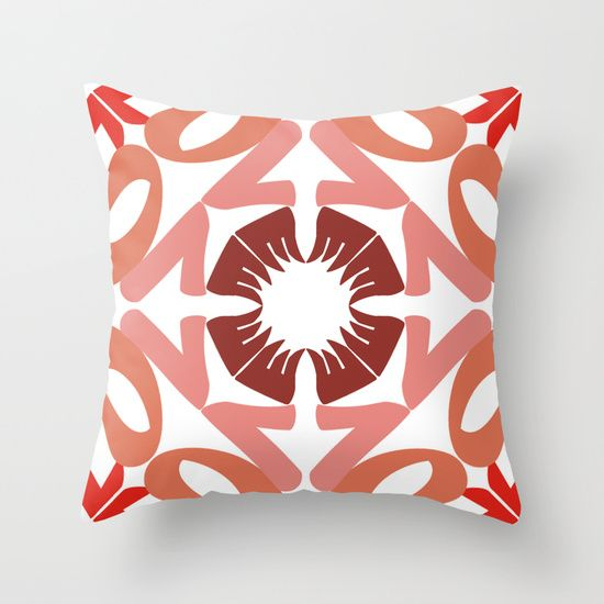 KALEIDOSCOPE LOVE Throw Pillow by Cristina Alhippio - $20.00