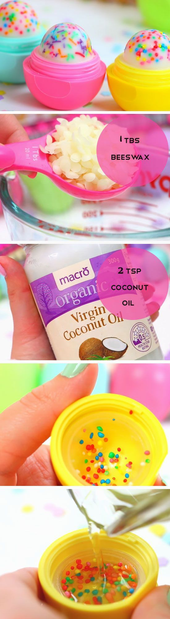 Cupcake Lip Balm   DIY Easter Party Favor Ideas for Teens   Handmade Spring Gift Ideas for Kids