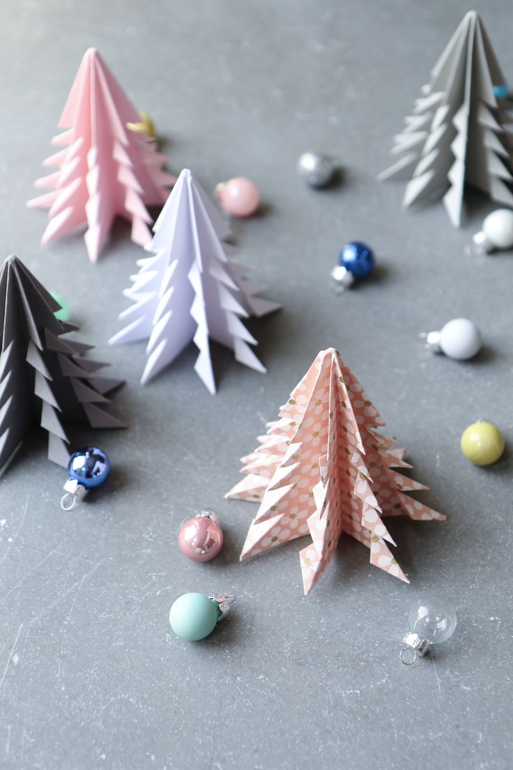origami christmas trees | humphrey and grace