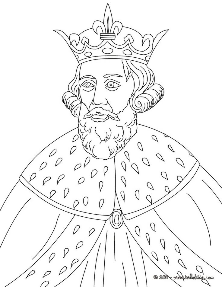 KING ALFRED THE GREAT Colouring Page