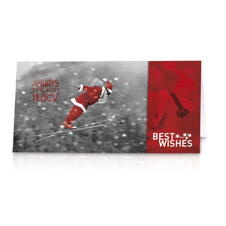 """Lustige Neujahrskarten """"Weihnachtsmann"""" - Bestellen Sie nur bei uns - Wimmer Druck in Aachen- oder online bei top-kartenlieferant.de"""