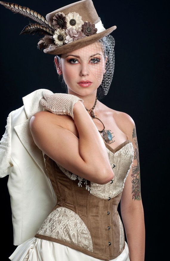Suede and Cream - perfect for a steampunk wedding