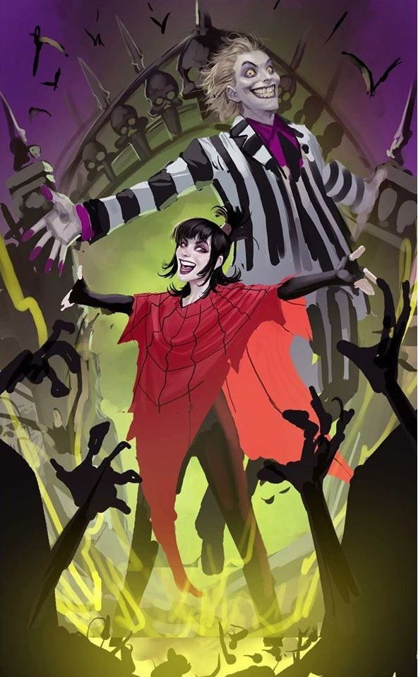 Stjepan Sejic Beetlejuice And Lydia Deetz Item By Bear1na Tumblr In 2020 Comic Art Beetlejuice Art