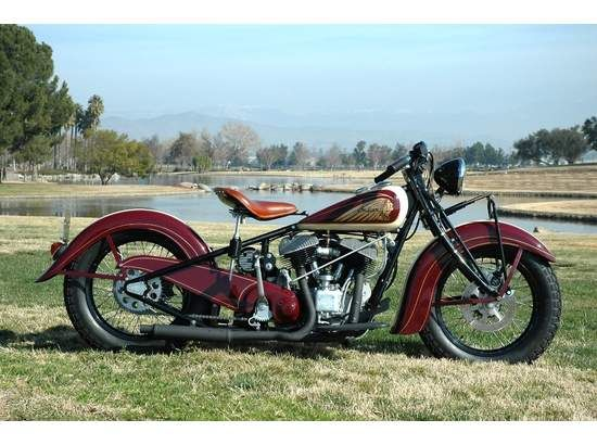antique '51 Indian Chief Motorcycle - I Like em STOCK with a Solo Seat.
