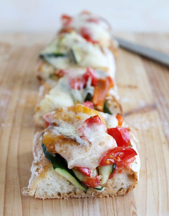 Bruschetta con verdure senza glutine