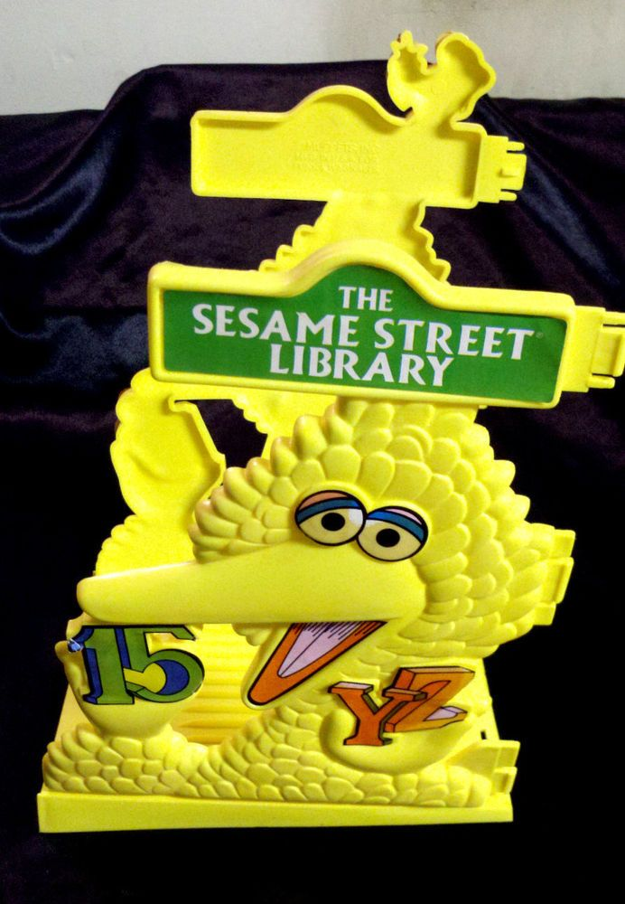 Rare Toys From The 80s : Rare vintage s sesame street library bookends big bird