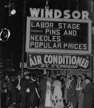 [ #Broadway #Marquee] PINS AND NEEDLES (original show opened #November 27 #1937 at #NYC Labor Stage then moved to Windsor #Theatre) #AtThisTheatre [www.JaysBroadway.com] #followme