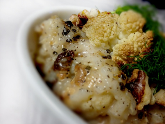 Baked Risotto with Caramelized Fennel & Onion with Roasted Cauliflower ...
