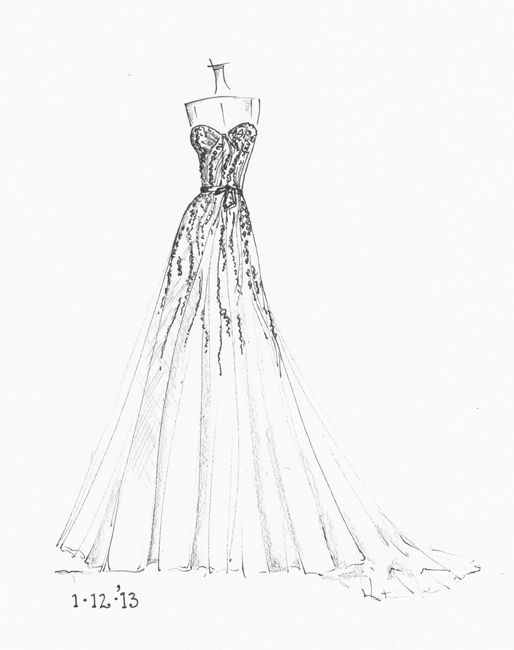 64 best wedding dress sketches images on Pinterest | Fashion ...