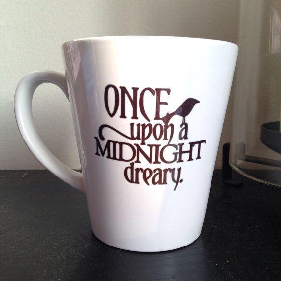 Edgar Allan Poe inspired coffee mug. The Raven inspired coffee mug sublimated mug