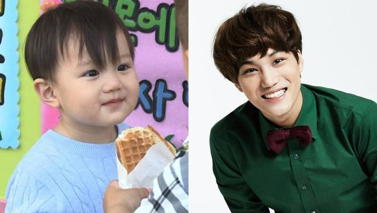 EXO's Kai expresses his affection towards his baby lookalike Ricky Kim's son Teo | http://www.allkpop.com/article/2014/10/exos-kai-expresses-his-affection-towards-his-baby-lookalike-ricky-kims-son-teo