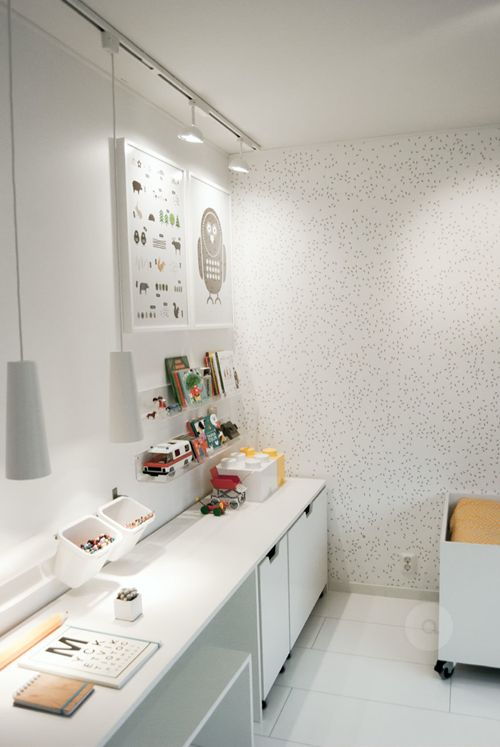 White ikea things, love this
