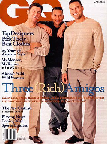 Nomar Garciaparra, Alex Rodriguez, & Derek Jeter...mostly just Derek Jeter. Marry me?