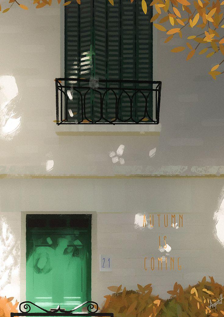 Autumn is coming, Florian Aupetit on ArtStation at https://www.artstation.com/artwork/NqDdP