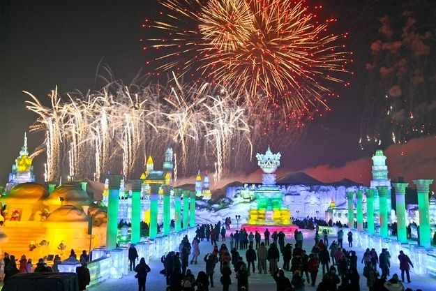 Majestic Sculptures From The Harbin International Ice And SnowFestival, Heilongjiang, China