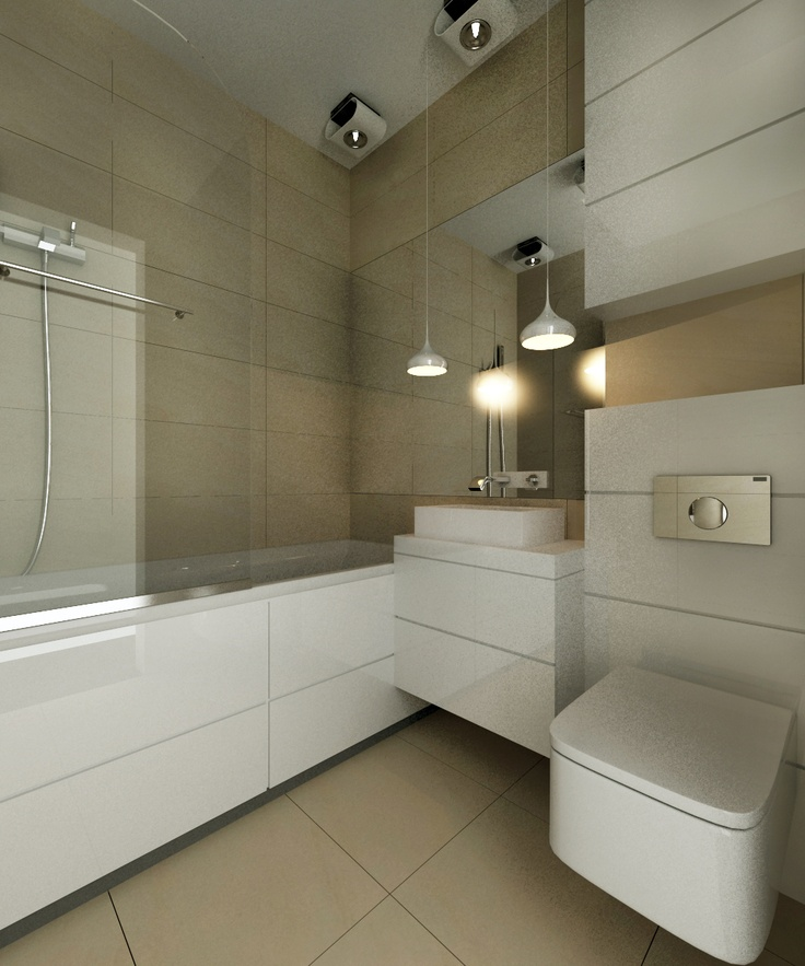 RoomReveal - Modern bathroom, Katowice, Poland by Barbara Kamińska