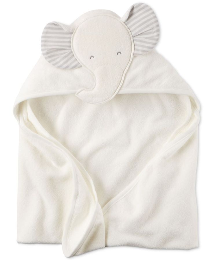 Carter's Baby Boys' or Baby Girls' Hooded Elephant Towel