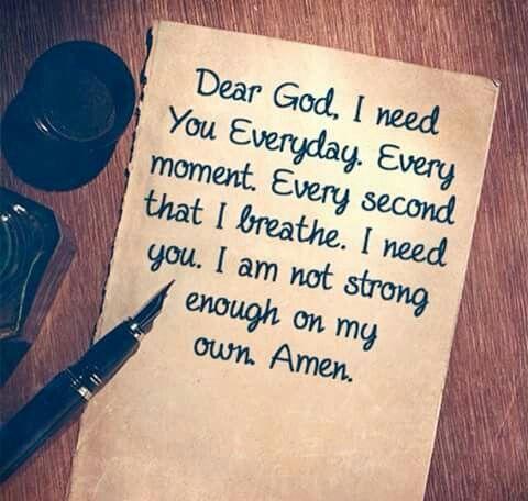 I need you. We ALL need You.