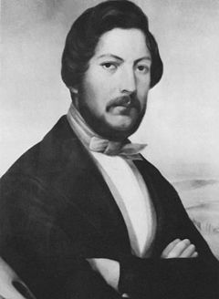 Andries Pretorius, Voortrekker leader, co-founder of the Natalia Republic and the original South African Republic (comonly known as the Transvaal), and first Chairman of the United Volksraad of the latter. Pretoria, the main capital of South Africa, is named for him.