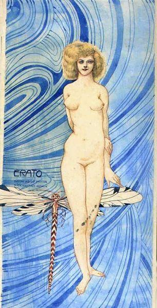 "Gustave Adolphe Mossa, ""Erato"""