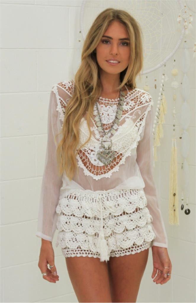 Girl & the Sun - Coco  Cabana Crochet Shorts