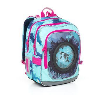Orka? konik morski? morze? ocean? To wszystko w plecaku szkolnym CHI 790 D - Blue