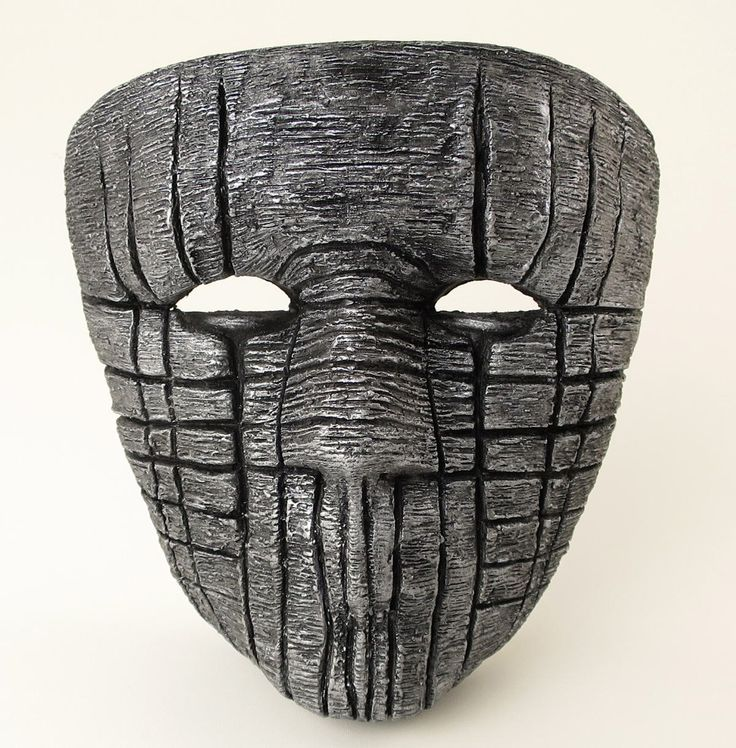 Silver Paper Mache Mask Death Eater Mask Scary Mask by BirdMaker