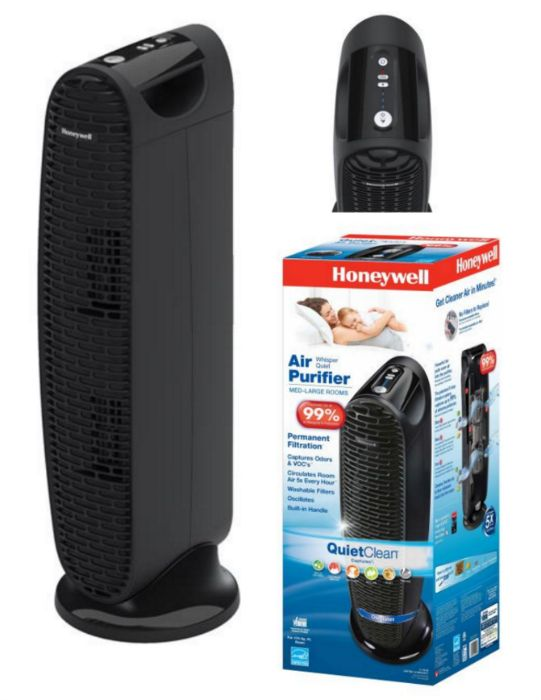 Honeywell QuietClean® Tower Air Purifier Review: This is such a quiet and effective air purifier that reduces pet dander, tobacco and other odors.