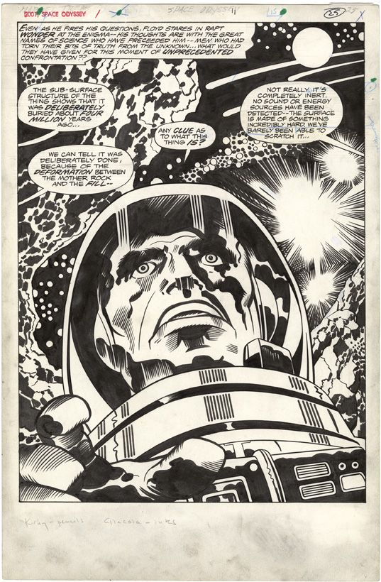 Jack Kirby, 2001 A Space Odyssey, Treasury Edition, Page 25. #JackKirby