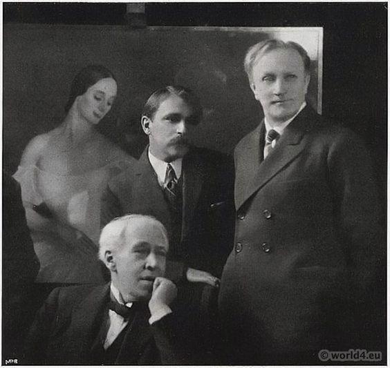 Сорин, Качалов и Станиславский в студии художника.:
