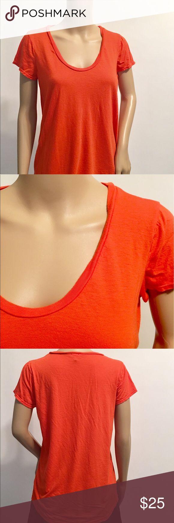 Splendid Orange Scoop Neck Slouchy T Shirt M Splendid Orange Scoop Neck Slouchy T Shirt Medium Splendid Tops Tees - Short Sleeve