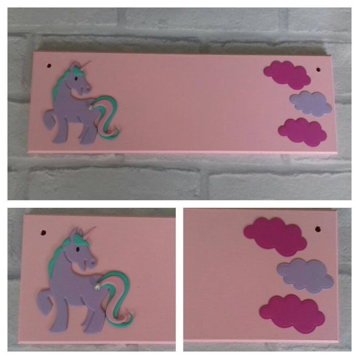 Unicorn Pony Girls Name plaque Name Sign. Any colours, Any Name/Names. Girls bedroom decor Nursery Little Pony Fairytale theme handmade sign by FairylandDecor on Etsy