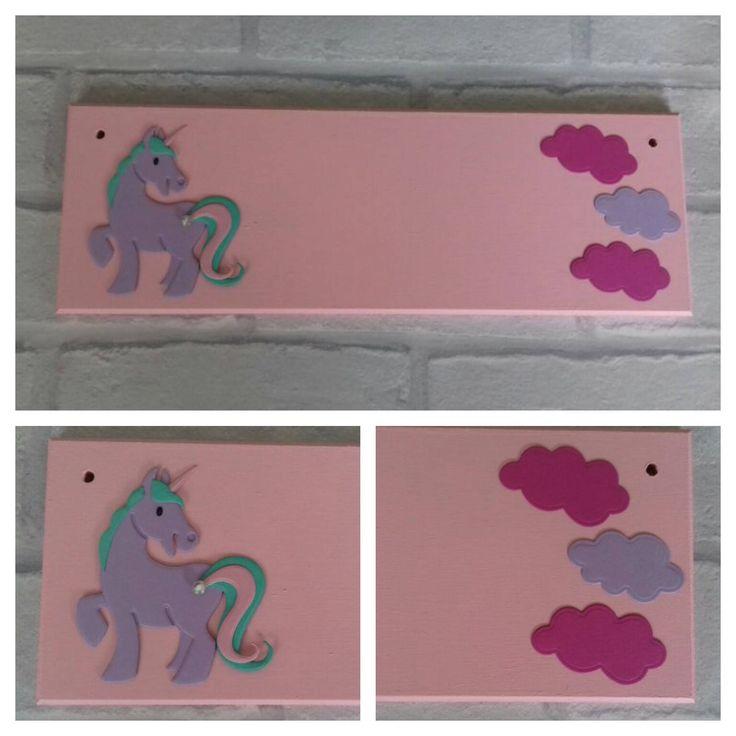 Unicorn Pony Girls Name plaque Name Sign. Any colours, Any Name/Names. Girls bedroom decor Nursery Little Pony Fairytale theme handmade sign by FairylandDecor on Etsy