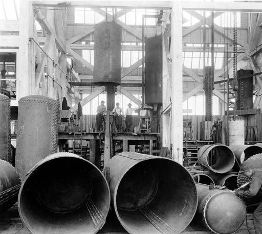 Interior of Puget Sound Machinery Depot, Seattle, Washington, ca. 1922 :: Industries and Occupations Photographs