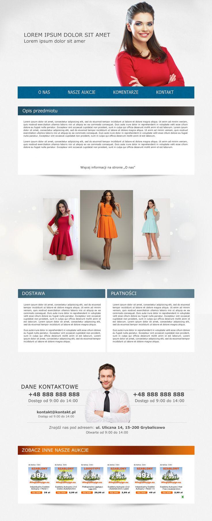 Ładny, kolorowy, choć mocno niedoceniany szablon z dziedziny damskiej odzieży. To kolejny projekt z przypadku i paru ciekawych pomysłów. #szablonallegro #sukienka #odziezdamska #allegro #allegrodesign